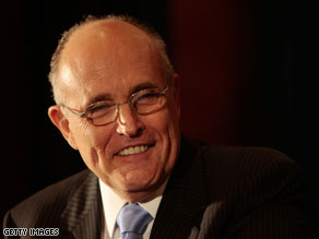 Former New York City mayor Rudy Giuliani says a planned Islamic community center near Ground Zero should not move forward.