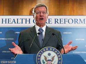 Senate Finance Committee Chairman Max Baucus said he will focus on health care costs.