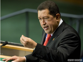 Alluding to his 2006 comment about former President George W. Bush, Venezuelan President Hugo Chavez said Thursday 'It doesn't smell like sulfur anymore.'