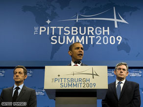 The Pittsburgh summit was the third G-20 summit in less than a year, and leaders agreed to work together more closely toward sustained growth and cracking down on banking regulations.
