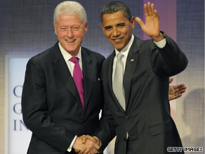 In an interview that aired Sunday, former President Clinton said forces once allied against him are now focused on President Obama.