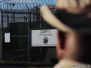 An image reviewed by the U.S. military shows the outside of the Camp Five detention facility December 10, 2008 on U.S. Naval Station Guantanamo Bay, Cuba.