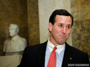Rick Santorum defended his record as a pro-life politician Tuesday night.