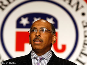 Republican National Committee Chairman Michael Steele endorsed Conservative Party candidate Doug Hoffman in NY-23&#039;s special election.