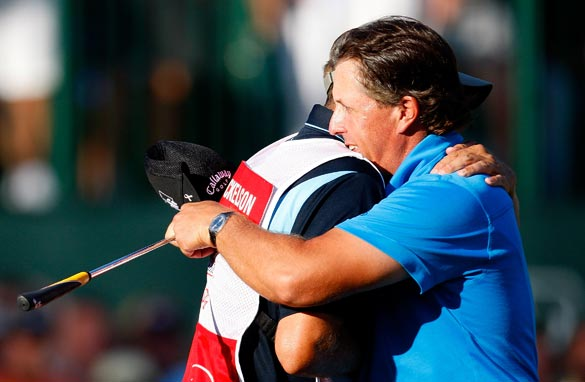 Phil Mickelson winning the PGA's Tour Championship at the weekend.
