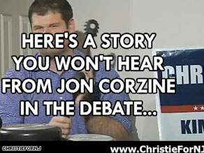 Chris Christie released a spoof music video on the Internet that asks voters if they can afford four more years of Democratic Gov. Jon Corzine.