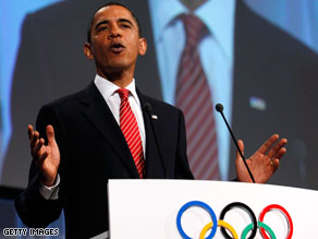 President Obama said Friday he's glad he went to Copenhagen in an effort to help Chicago win the right to host the Olympic Games.