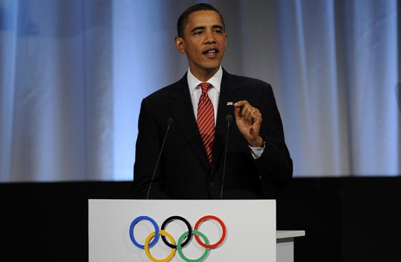 U.S. President Barack Obama is in Copenhagen to pitch for Chicago's bid. (AFP/GETTY IMAGES)