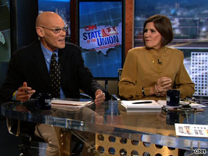Democrat James Carville said Sunday that conservative commentator Glenn Beck is 'out and out nuts' while Carville's wife, a Republican, had kinder words about the Fox News anchor.