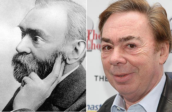 What links Alfred Nobel to Andrew Lloyd-Webber? (PHOTO: AFP/GETTY IMAGES)