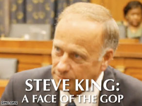 The Democratic National Committee targeted Iowa Rep. Steve King on Friday in the first of a series of Web videos.