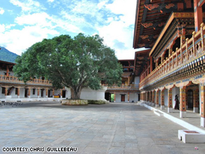 The Palace of Happiness in Bhutan.
