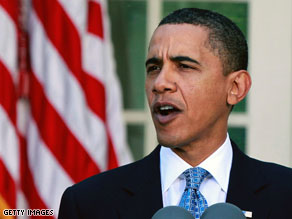Obama defends economic stimulus plan.