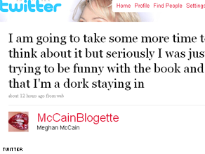 Meghan McCain says she's ready to quit twitter after a photograph she posted caused a wave of criticism