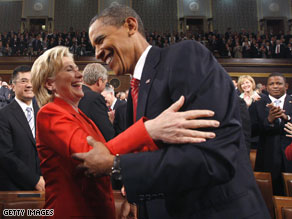 Poll: Hillary Clinton more popular than Barack Obama.