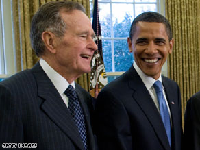 President Barack Obama will attend a community service forum hosted by former President George H.W. Bush  .