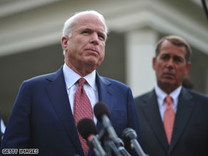 Sen. John McCain spoke to reporters in Arizona on Friday.
