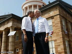 Biden told a Pennsylvania crowd he only said yes to being vice president months after it was first offered.