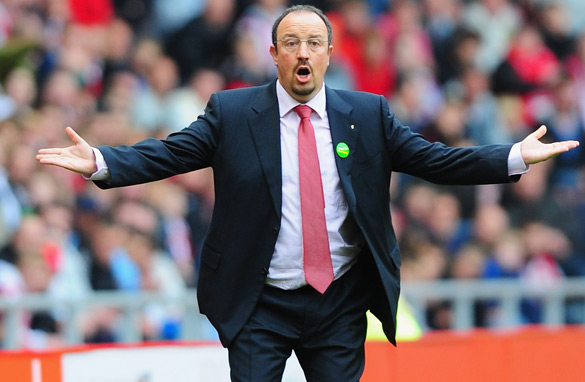 Rafael Benitez has looked an increasingly desperate figure on the touchline this season.