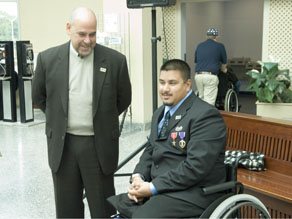Fernando Rivera (L) has worked with the VA for more than 25 years.