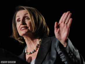House Speaker Nancy Pelosi says a war surtax does not have 'a good prospect.'