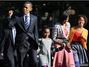 The Obama's will host students and families for trick or treating at the White House Saturday.