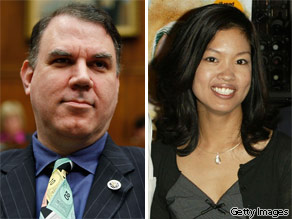 Rep. Alan Grayson (left) and Michelle Malkin (right).