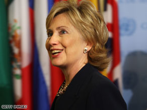 Clinton tries to put praise of Israel in context.