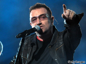 Bono mixes up foreign aid statistics, according to PolitiFact's Truth-O-Meter.