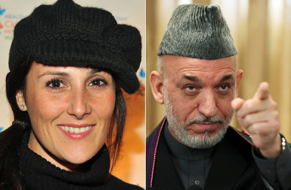 What links Ricki Lake to Hamid Karzai?