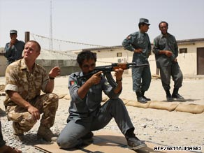 British soldiers mentor Afghan police. But has the risk become too great?