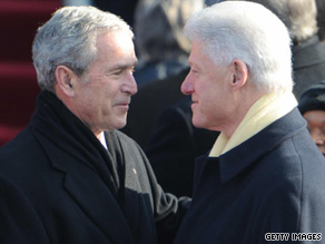 Clinton and Bush are set to appear at Radio City Music Hall Wednesday.