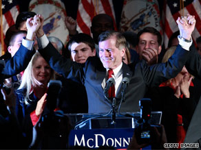 Republicans are pointing to Bob McDonnell's winning formula in Virginia as a way forward for the GOP.