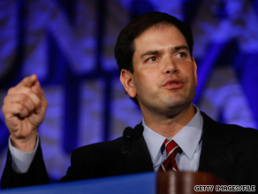 Marco Rubio was narrowly outraised by Charlie Crist in the past three months.