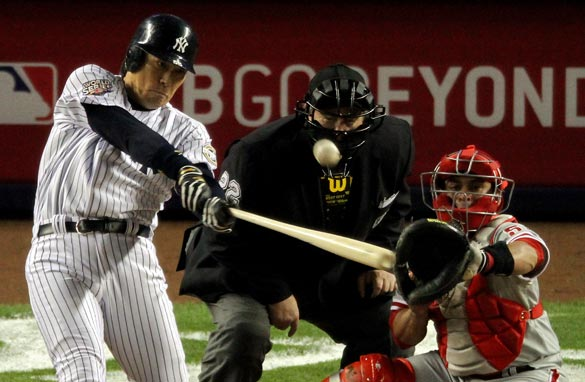 Hideki Matsui led the Yankees to a World Series victory which was closely followed in his native Japan.