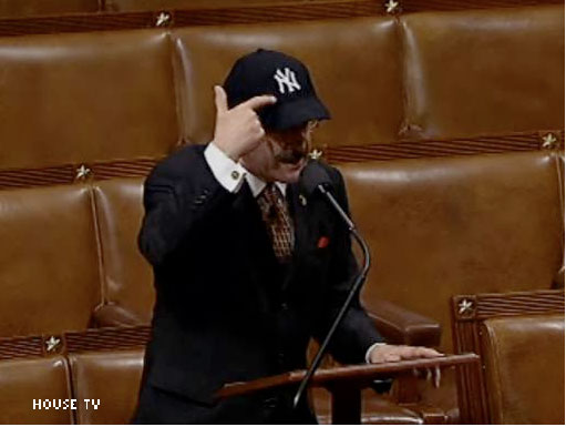 New York Rep. Eliot Engel shows some home town pride.