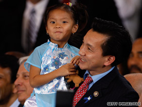 Rep. Cao brought his daughter to a town-hall event last month that President Obama held in New Orleans.