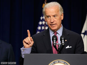 Vice President Joe Biden said it's time for Afghan President Hamid Karzi to 'step up to the ball'.