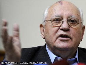 Former Soviet Union leader Mikhail Gorbachev .