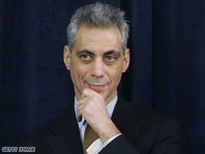 Emanuel filled in for President Barack Obama, who canceled his scheduled appearance to attend the Fort Hood memorial service.