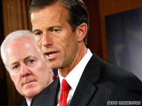 Sen. Thune, foreground, is Senate Republican Policy Committee.