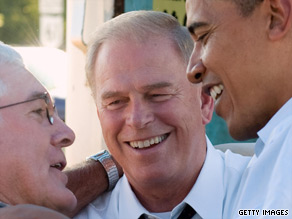 Ted Strickland will join President Obama in northeast Ohio on Monday.
