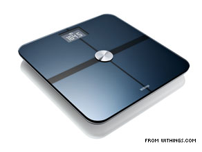 WiFi scale shares results with Twitter.