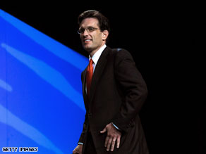 Cantor&#039;s sights set higher than Congress?