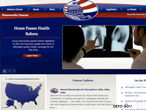 The new Web site for the House Democratic Caucus.