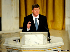 Rep. Patrick Kennedy told a Rhode Island newspaper that a Catholic bishop has forbidden him from receiving communion due to Kennedy&#039;s support for abortion rights.