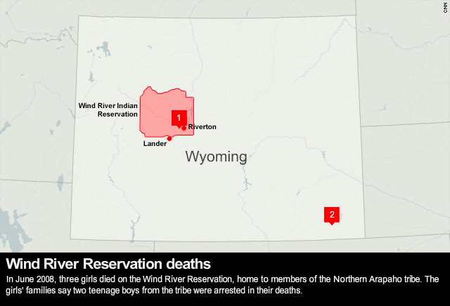 Wyoming Reservations Map Mystery lingers, answers few in girls' reservation deaths   CNN.com