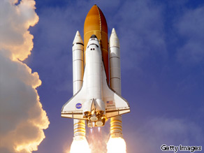 The space shuttle Atlantis STS-129 lifts off November 16, 2009 from Kennedy Space Center in Florida.