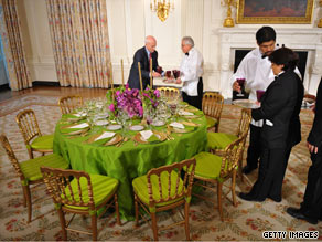 White House staff prepared Tuesday afternoon for the Obama administration's first state dinner.