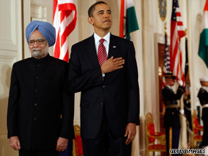 Indian Prime Minister Manmohan Sing arrived at the White House Tuesday morning.